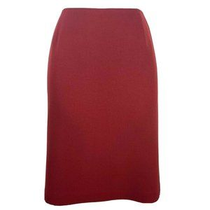 Casual Corner Annex Skirt 10 Red Pencil Career FF